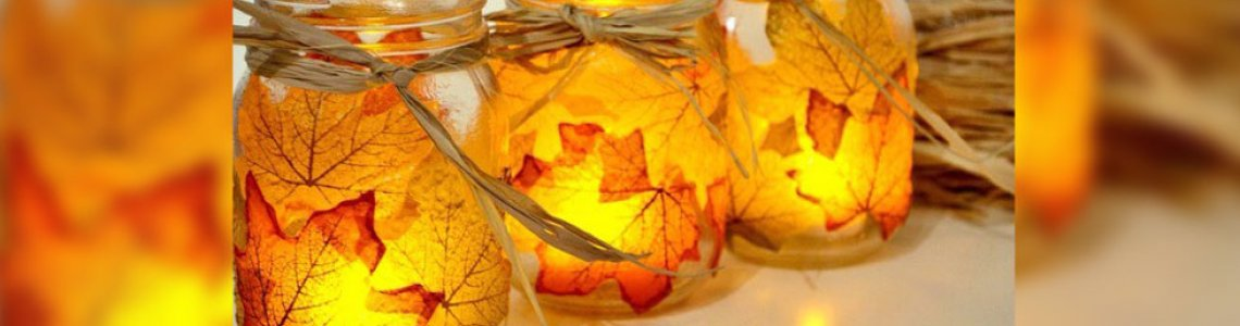Kids in the Garden : Autumn Leaf Candle Jars