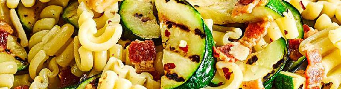 Chargrilled Courgette and Smoked Bacon Pasta Recipe