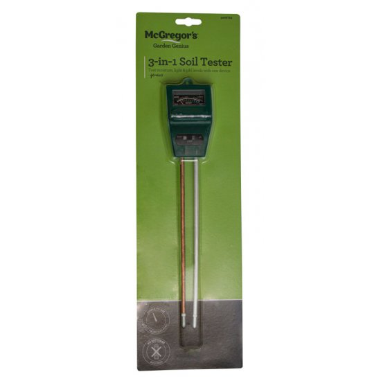 3 in 1 Moisture, Light and pH Meter