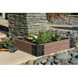 Raised Garden Box, Medium Brown